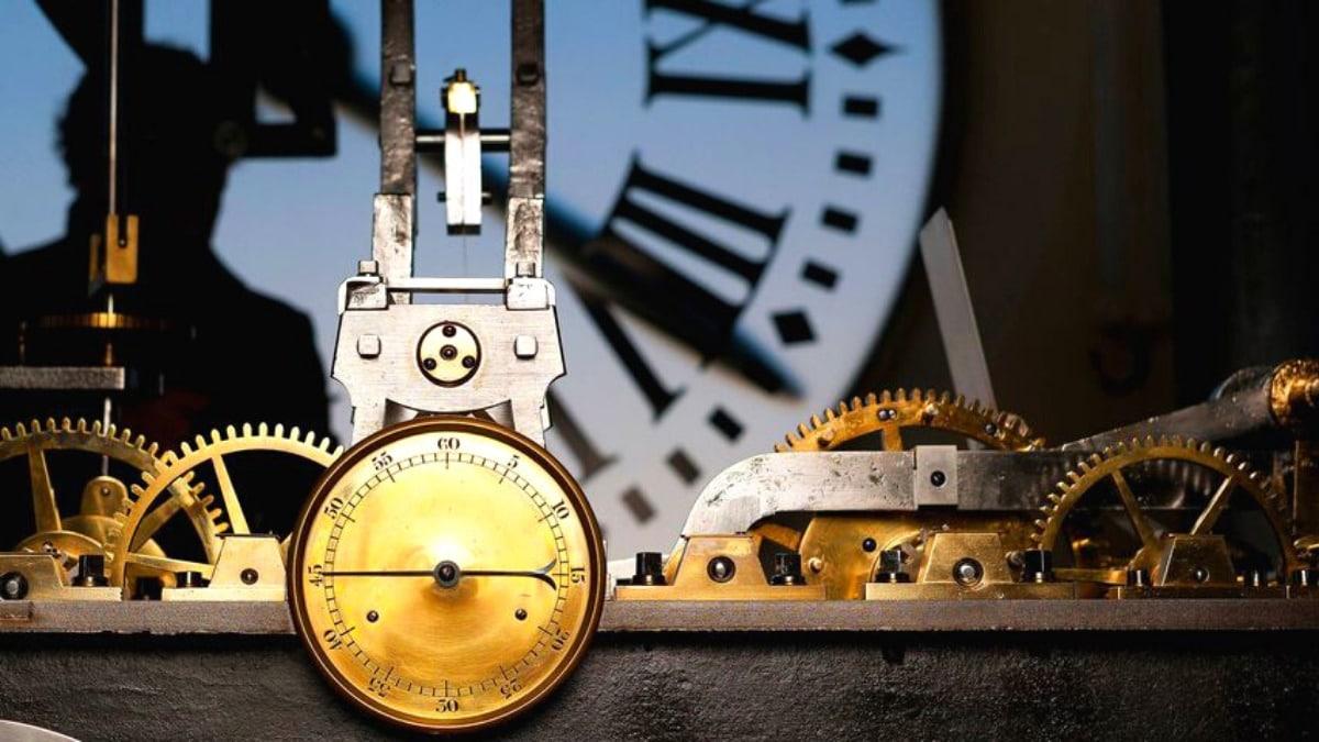 Interior del reloj de Gobernación, en la Puerta del Sol