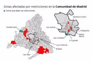 EpData.- Zonas con restricciones en la Comunidad de Madrid, en gráficos