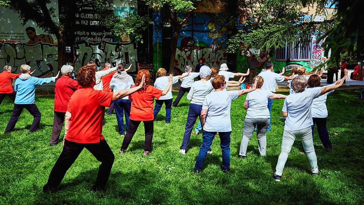 gimnasia al aire libre Rivas